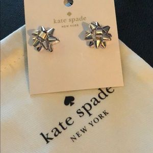 Kate Spade Silver Bourgeois Bow Earrings